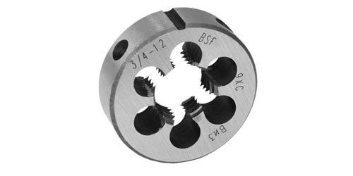 ПЛАШКА КРУГЛАЯ ДЛЯ ДЮЙМОВОЙ РЕЗЬБЫ УИТВОРТА (BSF), УГОЛ 55°,СТАЛЬ 9ХС, DIN EN 22 568